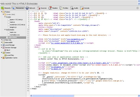 html code for homepage template transform your website with html5 boilerplate techrepublic