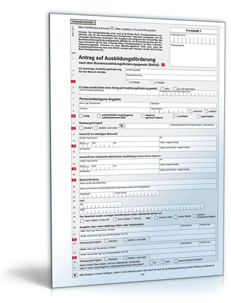 Vorlage Antrag Verkürzung Ausbildung Antrag Auf Ausbildungsf 246 Rderung Formular Zum