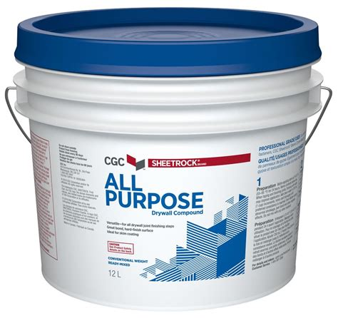 cgc all purpose drywall compound ready mixed 20 kg pail