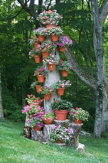 ideas  recycle tree stumps  garden art  yard