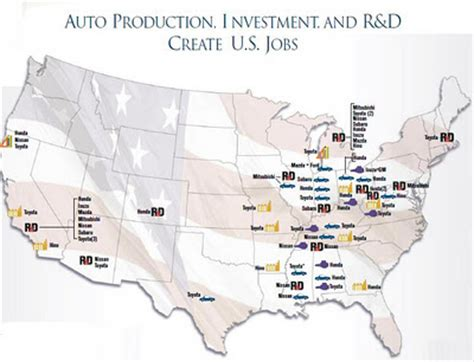 ford plant locations nissan manufacturing plant location map ford manufacturing
