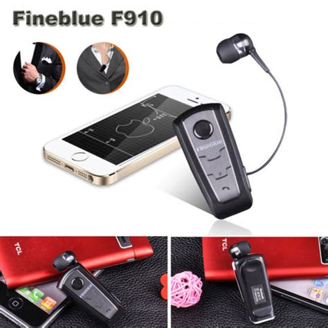 Fineblue Bluetooth Headset Original Fb008 original fineblue portable f910 wireless bluetooth headset retractable call