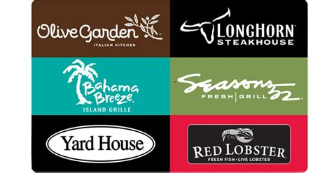 Great American Restaurants Gift Card - free 20 darden egift card w 100 darden gift card purchase olive garden red