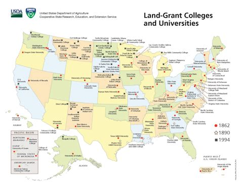 land grants map cooperative extension service health extension toolkit