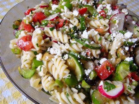 pasta salad with rotini greek rotini salad recipe food com