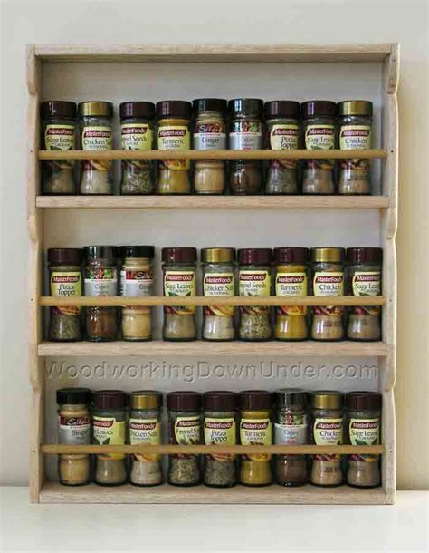 Build Spice Rack by Free Woodworking Project Plans