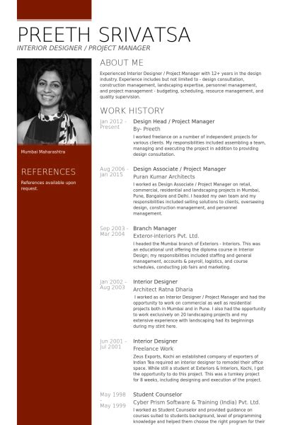 Best Resume Format Architects by Project Manager Resume Samples Visualcv Resume Samples