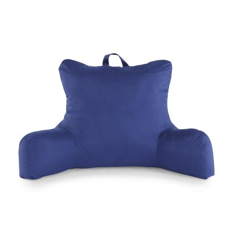 twill bed rest navy pillow back support arm stable tv bedrest arm pillow microsuede bedrest pillow best bed