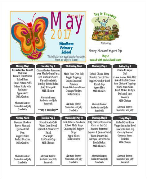 school lunch calendar template 9 school calendar templates free word pdf format