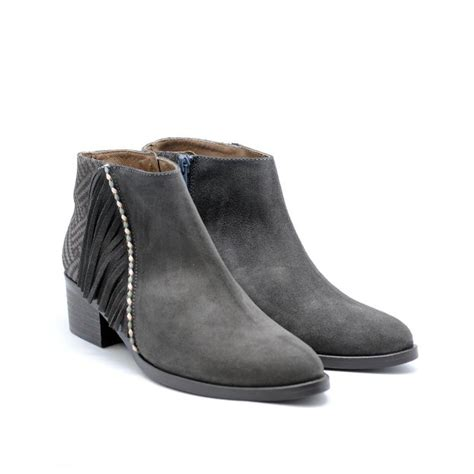 Detox Boot C Spain by Gaimo 0740 Gray Suede Anckle Boots Fashion