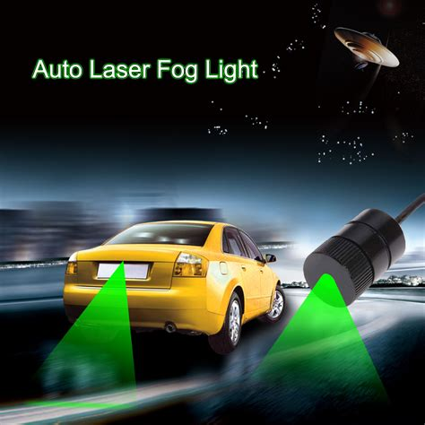 Car Motor Laser Fog Light 1000mw 532nm anti collision car laser fog light green car warning light waterproof