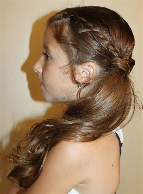 girl hairstyles pony hairstyles for girls the wright hair rolls to side ponytail