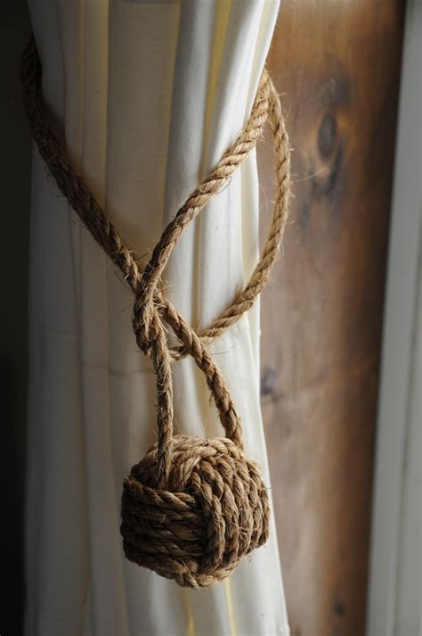 curtain rope tie backs nautical curtain tie backs nautical decor nautical