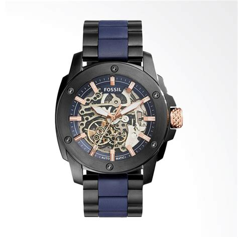 Murah Jam Tangan Pria Wanita Fossil Ls1288 Silver Plat White jam tangan fossil bracelet jualan jam tangan wanita