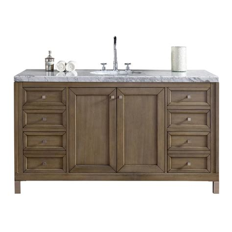Martin Vanity by Martin Signature Vanities Chicago 60 In W Single Vanity In Whitewashed Walnut With Marble