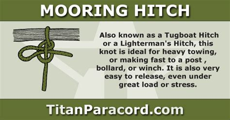 tugboat hitch titan knots archives titan paracord