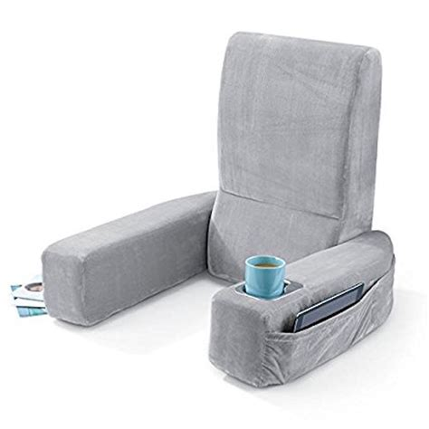 bed rest pillow with cup holder bed rest pillow with arms sweet home collection polyester