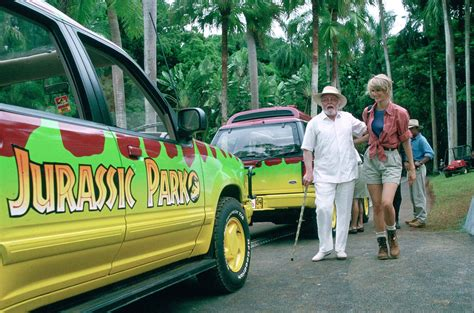 jurassic park car movie jurassic park 1993 that was a bit mental