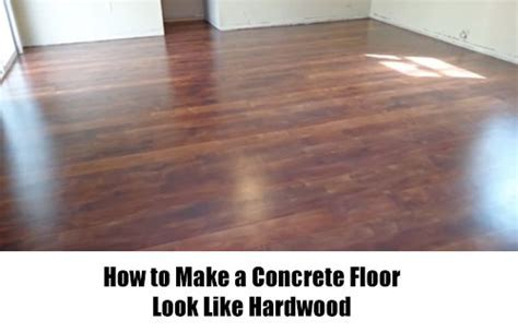 How to Make a Concrete Floor Look Like Hardwood ? iSeeiDoiMake