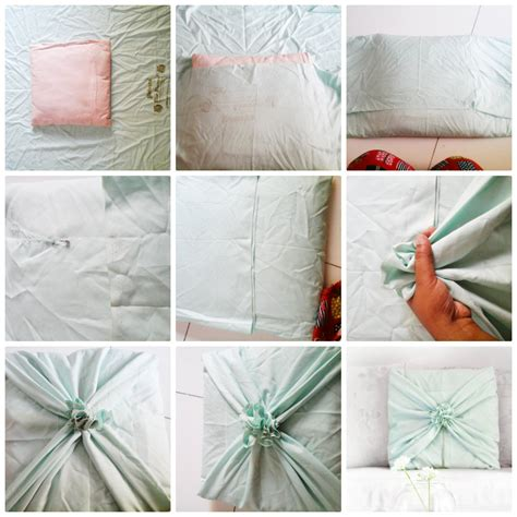 How To Make A Cusion diy no sew cushion cover tutorial trumatter