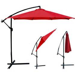 Patio Umbrellas New Patio Umbrella Offset 10 Hanging Umbrella Outdoor Market Umbrella D10 Ebay