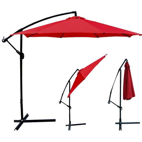 Market Patio Umbrellas New Patio Umbrella Offset 10 Hanging Umbrella Outdoor Market Umbrella D10 Ebay