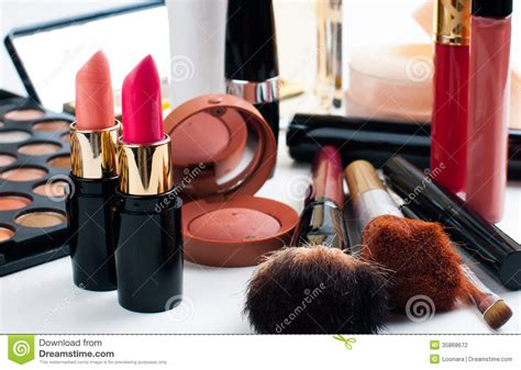 Lipstick Palette Makeover makeup and cosmetics set stock photography image 35868672