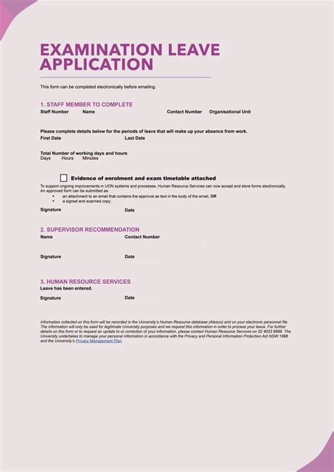 blank leave application form templates   samples