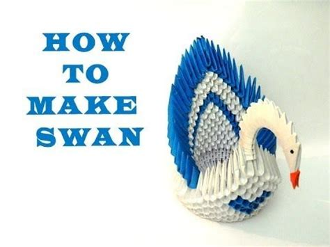 How To Make A 3d Origami Swan - 1000 ideas about origami swan on 3d origami