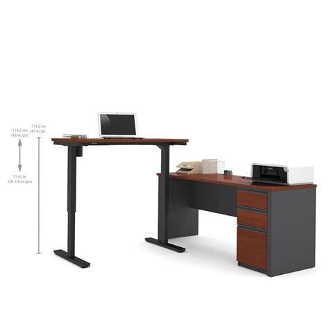 bestar prestige l desk bestar prestige l shape desk in bordeaux and graphite