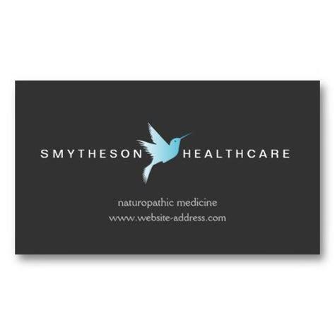 wellness business cards template sky blue hummingbird logo ii health wellness business