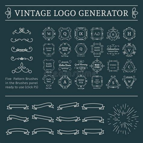 Vintage Logo Generator Stock Vector Image Of Brush | vintage logo generator stock vector image 63544356