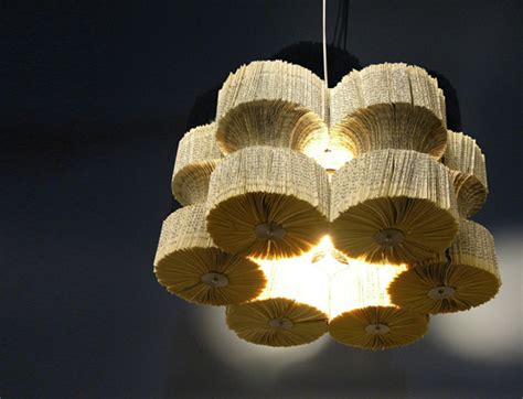 Lula Dot S Brilliant Recycled Book Chandeliers Cast A Where To Recycle Lights
