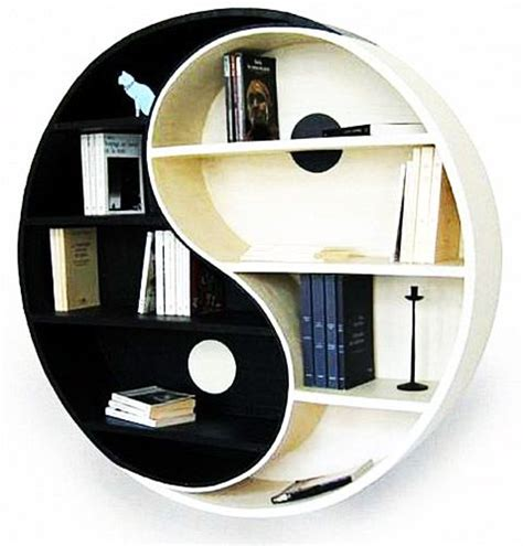 yin yang home decorating and shelves on