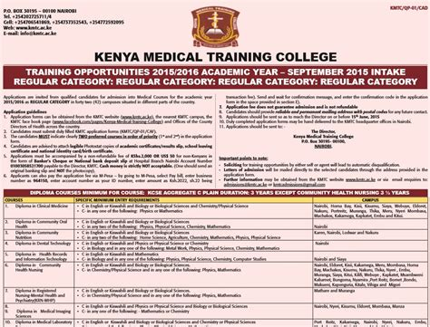 application letter for kmtc application kenya application