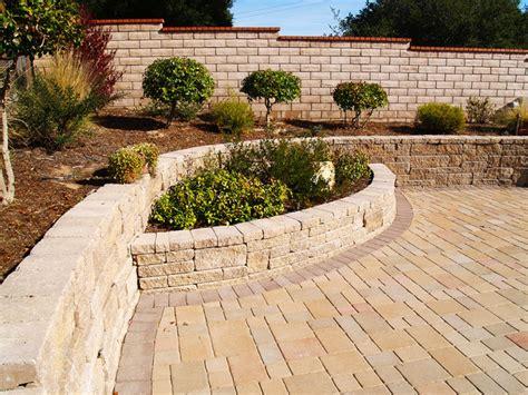 Concrete Paver Planters by Pavers Patio Retaining Wall With Planter Santa Ca