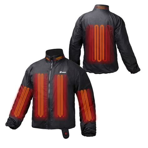 heated motorcycle clothing 12v deluxe heated motorcycle jacket liner fits any