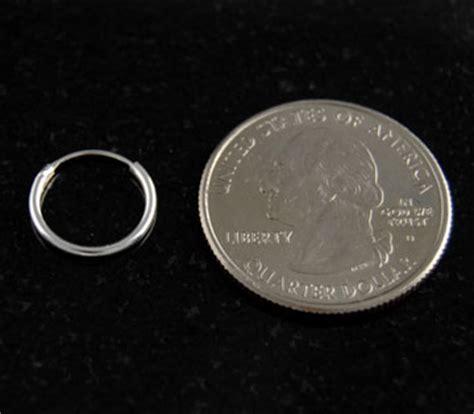 Sterling Silver 12mm Endless Hoop Earrings 925 Italy