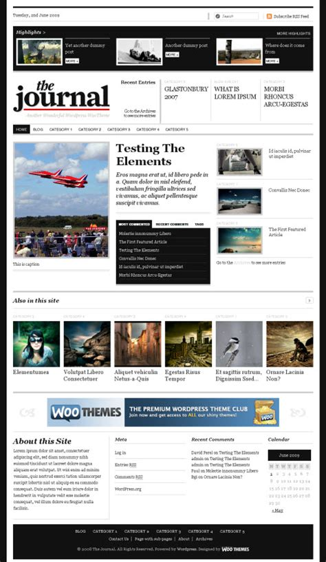 woothemes templates the journal premium theme woothemes