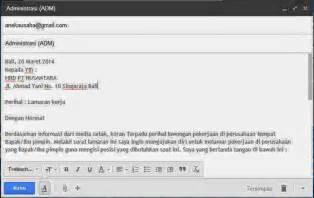 Contoh Application Letter Beserta Terjemahan contoh surat lamaran via email beserta lampirannya contoh surat