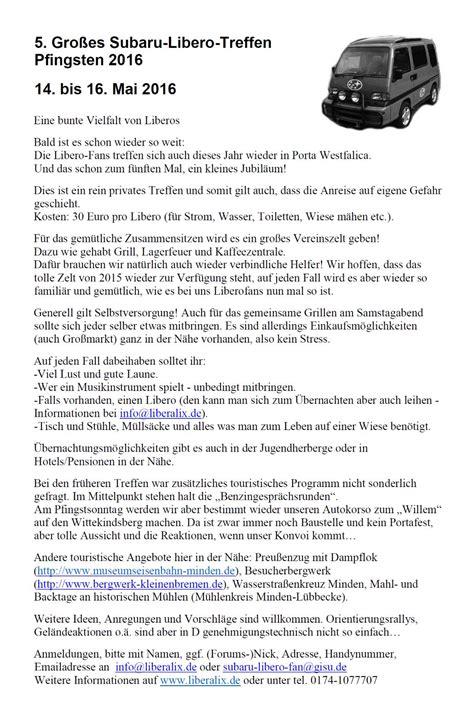 Auto Mit Schiebetüren by Die Subaru Libero Fan Seiten