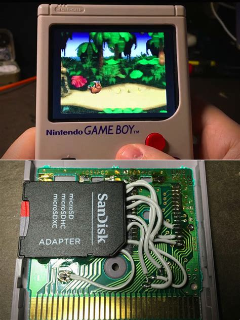 gameboy usb mod modder hacks game boy to run nearly any classic game