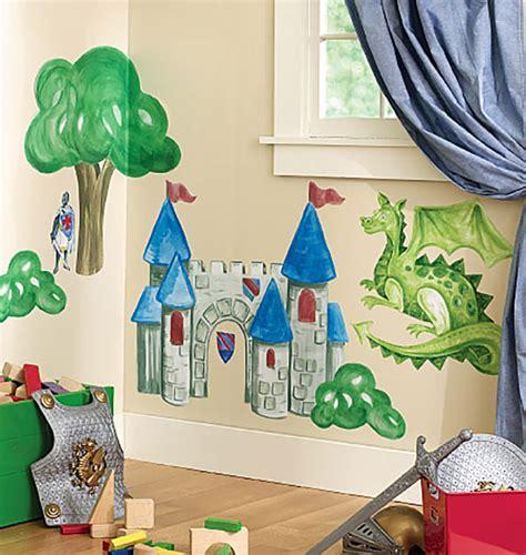 Wandtattoo Kinderzimmer Ritterburg by Wandsticker Wandbild Ritterburg Vorgeleimt Kinderzimmer