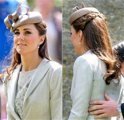wedding hats with braids kate middleton finally changes hairstyle with a braid