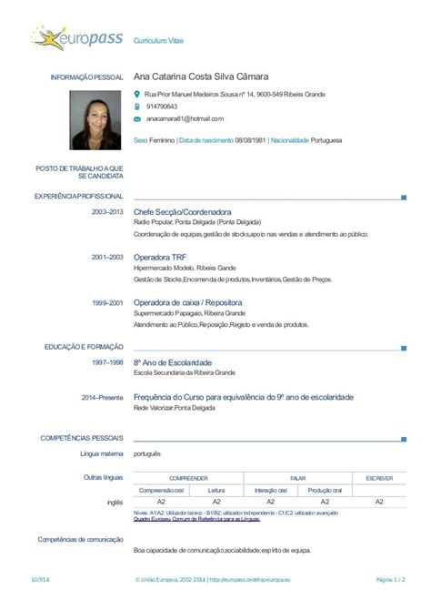 europass cv template english doc images certificate