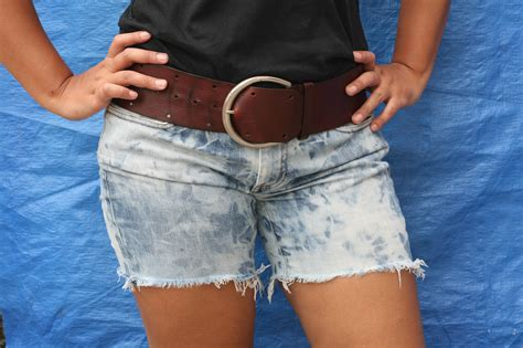 naughty cut off shorts how to make dirty denim distressed cut off shorts 6 steps