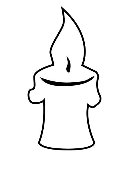 Free Coloring Pages Of Candlestick Candle Coloring Page