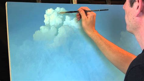 acrylic paint clouds painting clouds with tim gagnon a time lapse speed