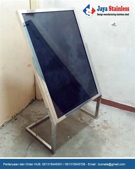 Tiang Infus Stainless Kaki 3 tiang display stainless kaki l standing poster stainless