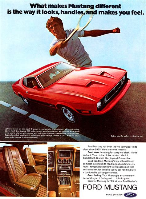 1973 Ford Mustang Mach 1 ad   CLASSIC CARS TODAY ONLINE